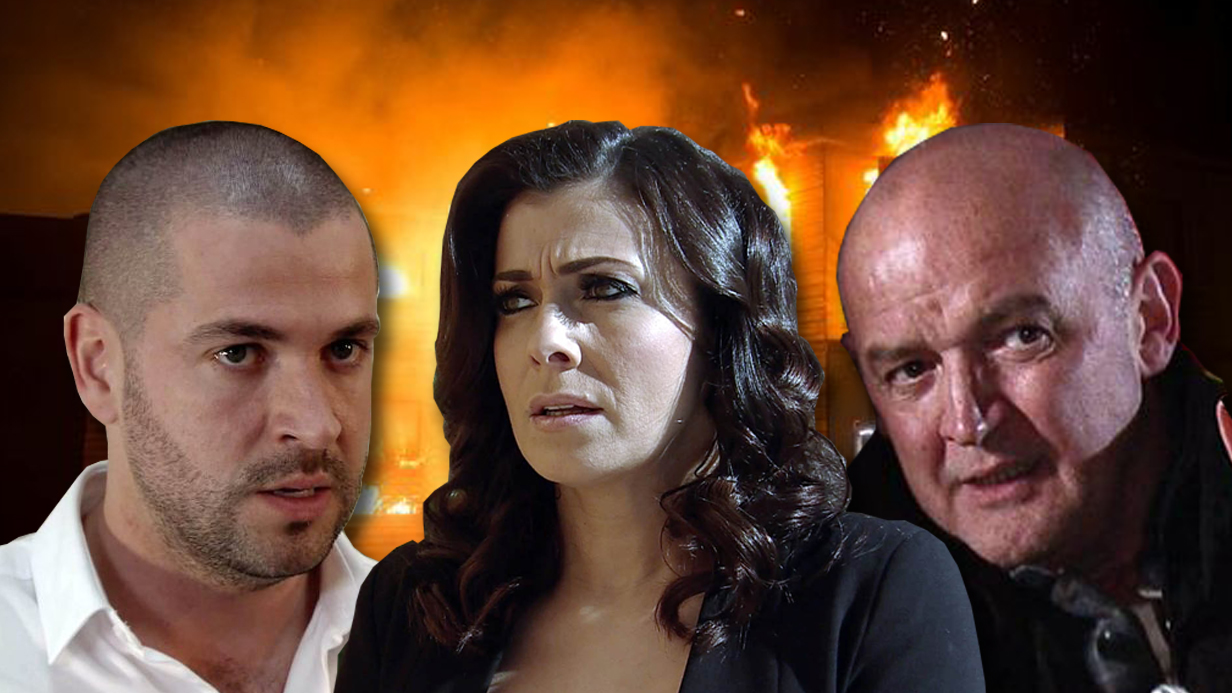 Editorial Use Only. No Merchandising Mandatory Credit: Photo by ITV/REX/Shutterstock (5623533cv) When it emerges that Steve wasn't on the flight, Michelle Connor, Kym Marsh, is upset and convinced Steve no longer cares about her. She heads to Will's, Leon Ockenden, house 'Coronation Street' TV show - Apr 2016 Ep 8887 - Friday 22 April 2016 - 1st Ep