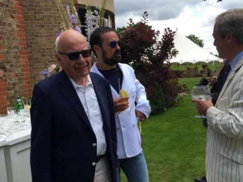Lily Allen is at a garden party with Nigel Farage and Rupert Murdoch and she's live-tweeting it