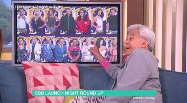 Lionel Blair had a burning question about the CBB line-up on This Morning? (Picture: ITV)