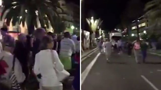 New video shows moment lorry drove towards crowd of people listening to music