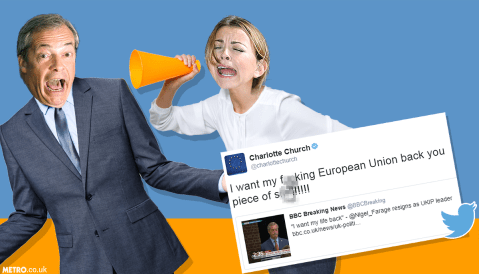 Charlotte Church had the best response to Nigel Farage's resignation