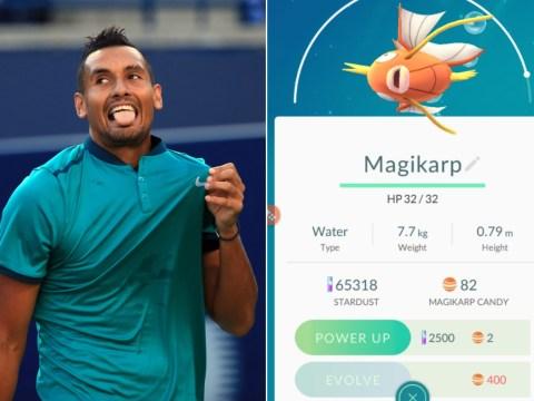 Nick Kyrgios loses at tennis but wins at Pokemon Go