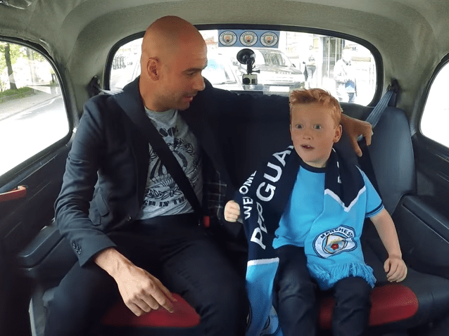 Taxi for Pep! Guardiola hints at more signings in brilliant interview with young Man City fan