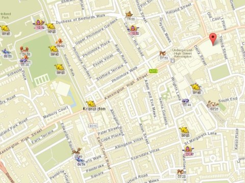 Pokemon Vision: This map shows you where Pokemon are near you (and how long they'll be there for)