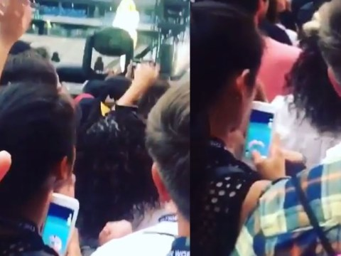 This girl played Pokemon Go front row at a Beyonce concert and it is not OK