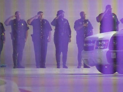 Dallas police shooting: Police salute colleagues killed in violent protests