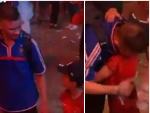 Young Portugal fan consoles devastated Frenchman after Euro 2016 final