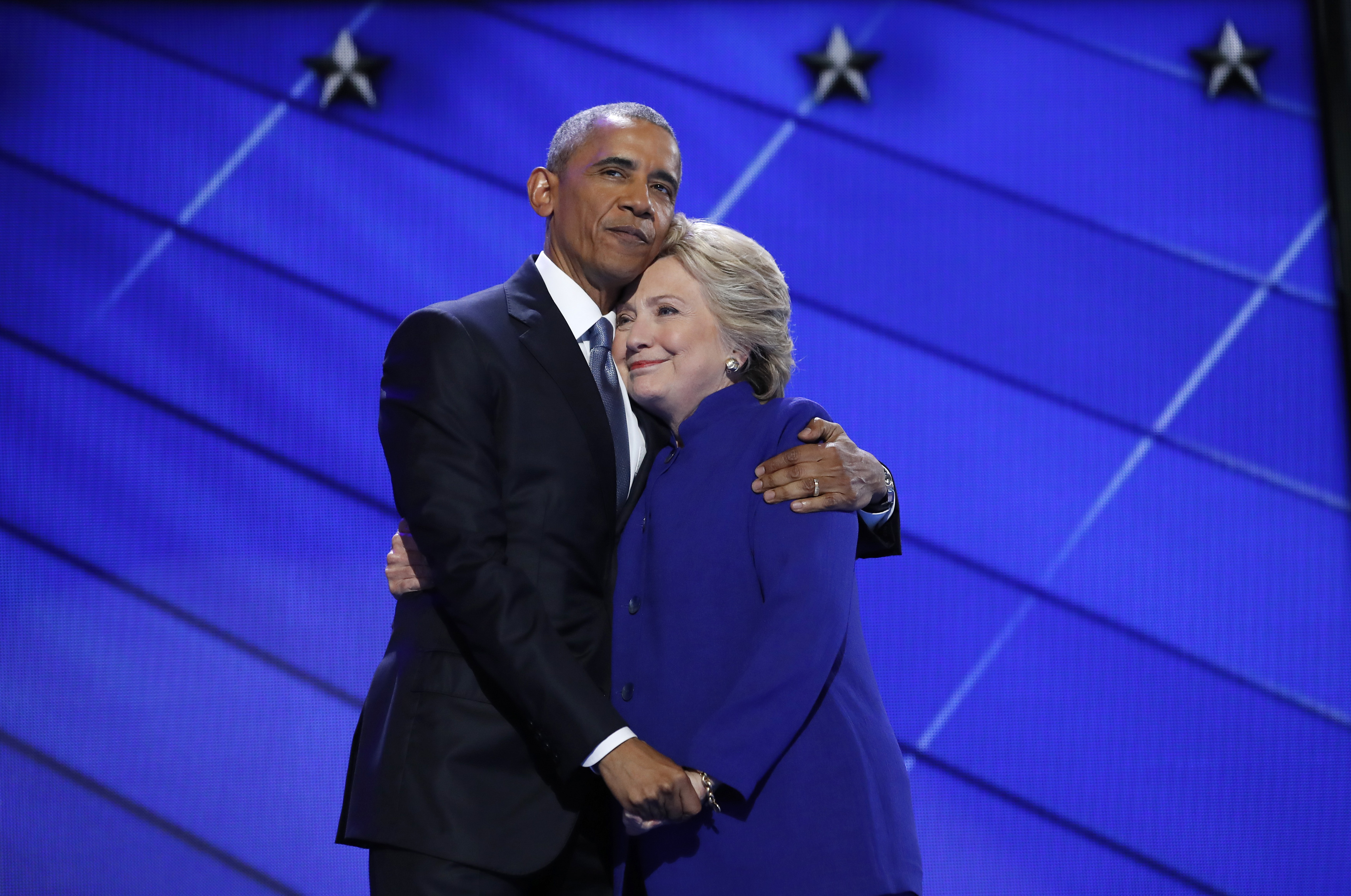 This picture of Hillary and Barack has endless possibilities