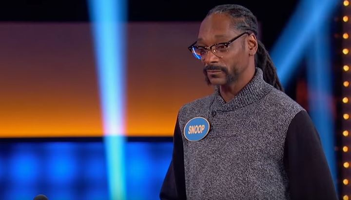 Snoop Dogg lost out on a marijuana round on Celebrity Family Feud (Picture: NBC)