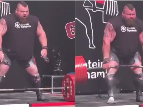 Strongman Eddie Hall becomes first man to deadlift 1/2…then passes out