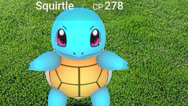 Pokémon GO - Squirtle get real (ish)