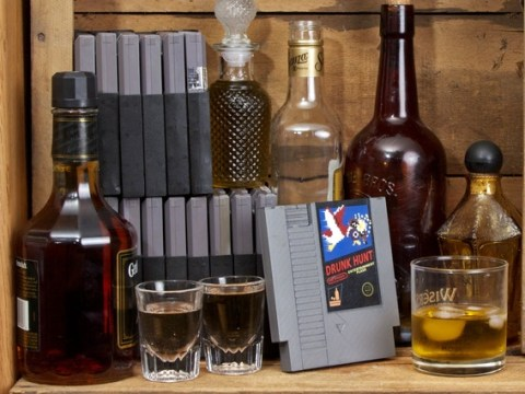 These hip flasks are made from old video games and it's the sneakiest thing ever