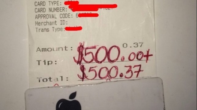 Waiter tipped £380 by guy who came in for bottle of water Credit WFAA