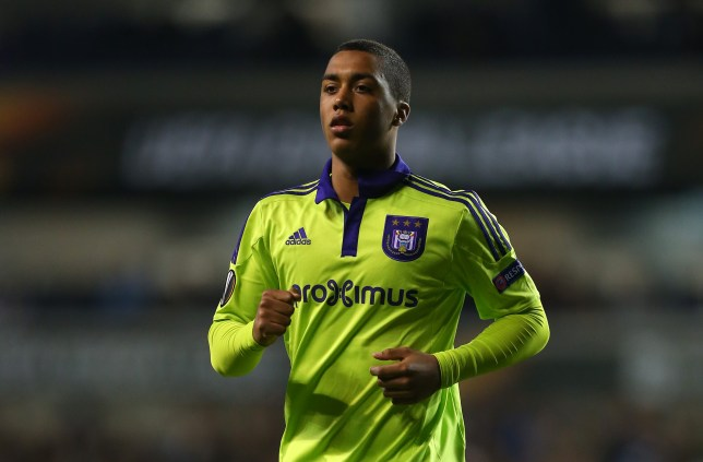 LONDON, ENGLAND - NOVEMBER 05:  Youri Tielemans of Anderlecht during the UEFA Europa League match between Tottenham Hotspur and RSC Anderlecht on November 5, 2015 in London, United Kingdom.  (Photo by Catherine Ivill - AMA/Getty Images)