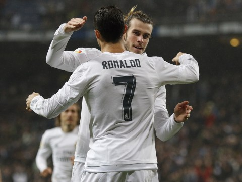 Cristiano Ronaldo and Gareth Bale enjoy tweet off during Real Madrid's European Super Cup final