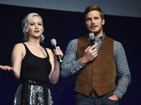 First pictures released of Chris Pratt and Jennifer Lawrence in sci-fi flick Passengers