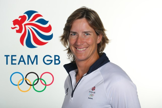 BIRMINGHAM, ENGLAND - JUNE 26: (EDITORS NOTE: This image has been digitally altered - LOGO ADDED TO BACKGROUND)  A portrait of Katherine Grainger a member of the Great Britain Olympic team during the Team GB Kitting Out ahead of Rio 2016 Olympic Games on June 26, 2016 in Birmingham, England.  (Photo by Warren Little/Getty Images)