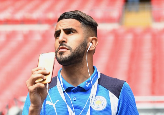 LONDON, ENGLAND - AUGUST 07: Riyad Mahrez of Leicester City looks around inside the stadium prior to The FA Community Shield match between Leicester City and Manchester United at Wembley Stadium on August 7, 2016 in London, England. (Photo by Michael Regan - The FA/The FA via Getty Images)