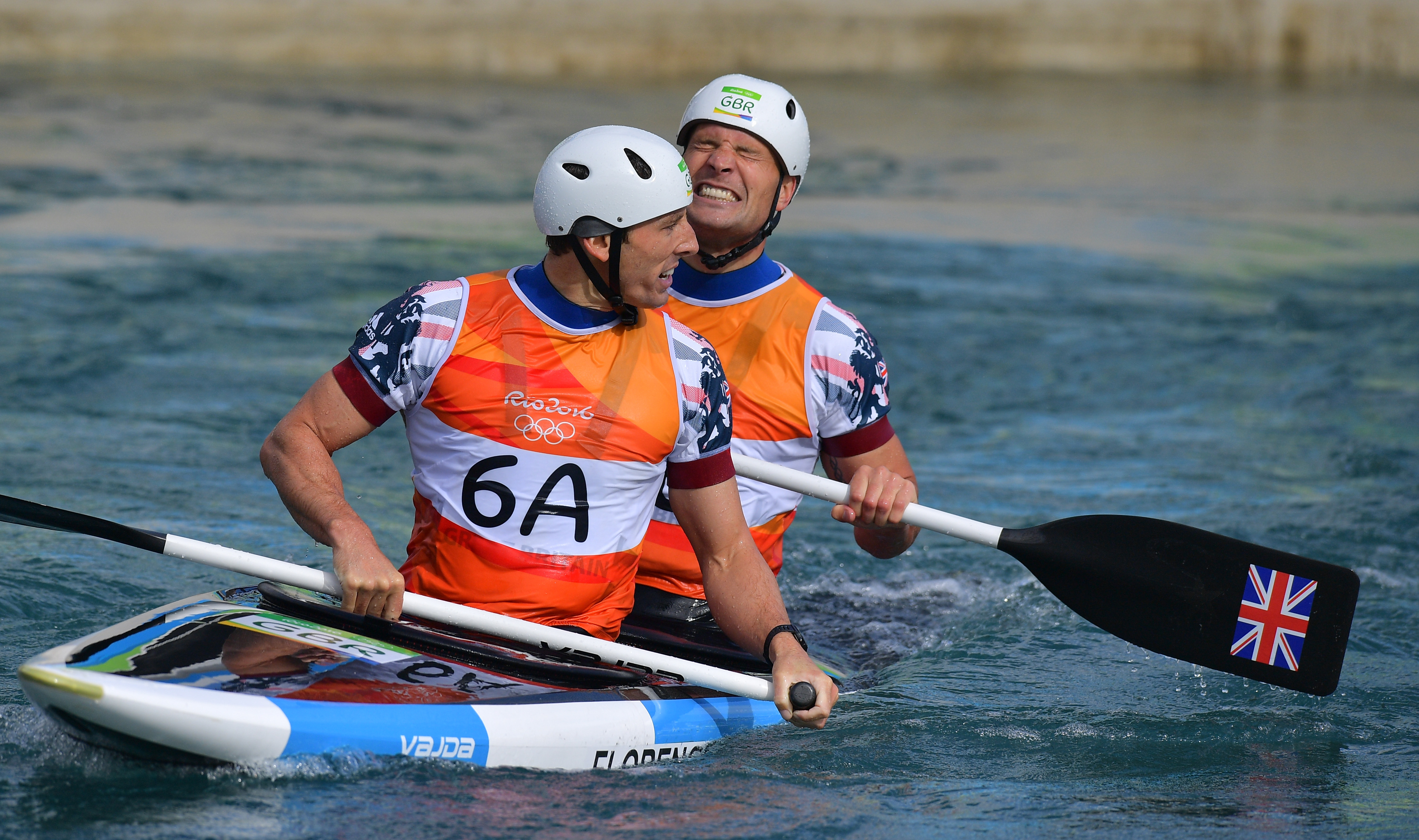 David Florence and Richard Hounslow win silver in the C2 canoe slalom for Team GB in Rio
