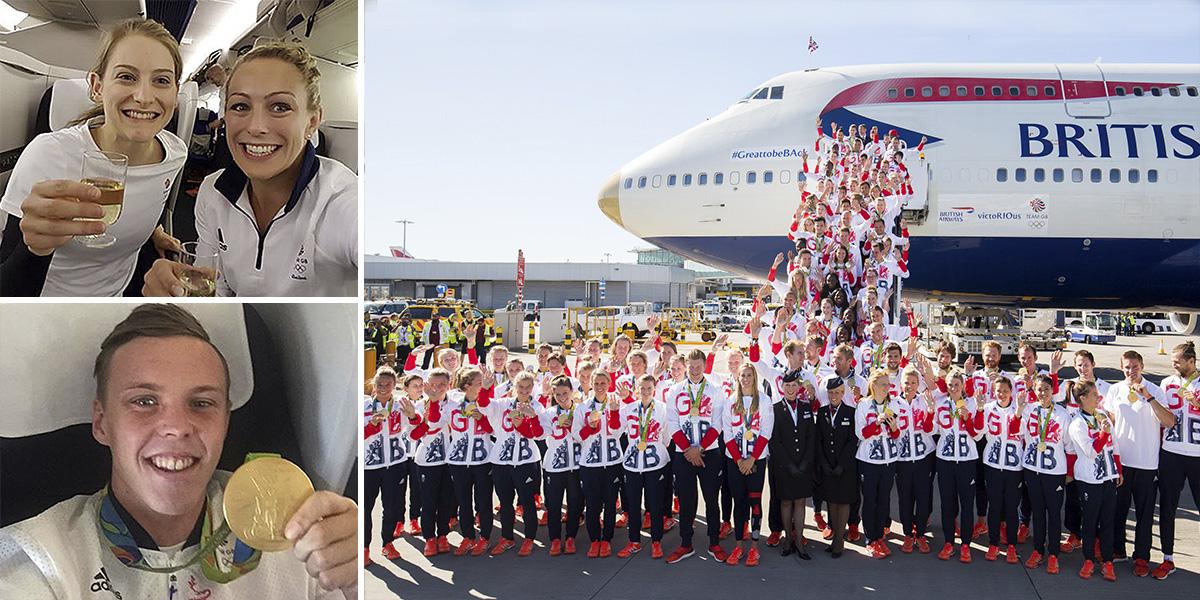 Team GB heroes arrive back home after record-breaking achievements at Rio 2016 Olympics