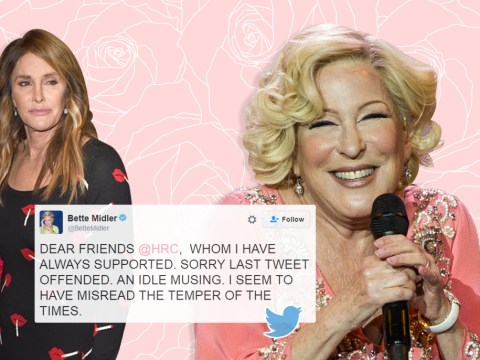 Bette Midler apologises for 'transphobic' Caitlyn Jenner tweet