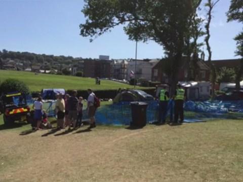 Children injured after inflatable slide overturns in Dorset