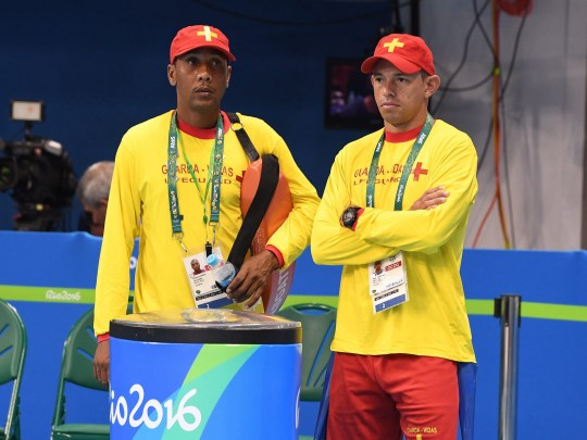 Nope, lifeguards at the Olympic swimming don't know why they