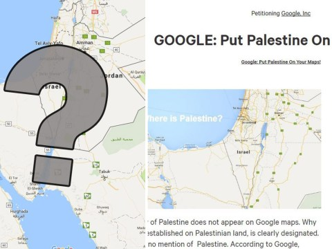 Has Palestine been removed from Google Maps?