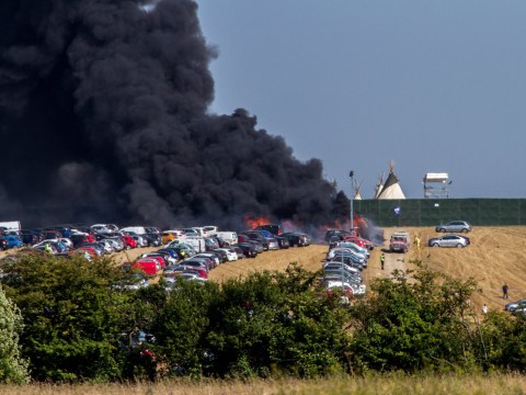 Boomtown festival evacuated after fire rages through car park, destroying 80 vehicles