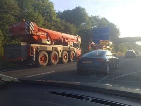 Broken down crane causes 15 miles of queues on M4
