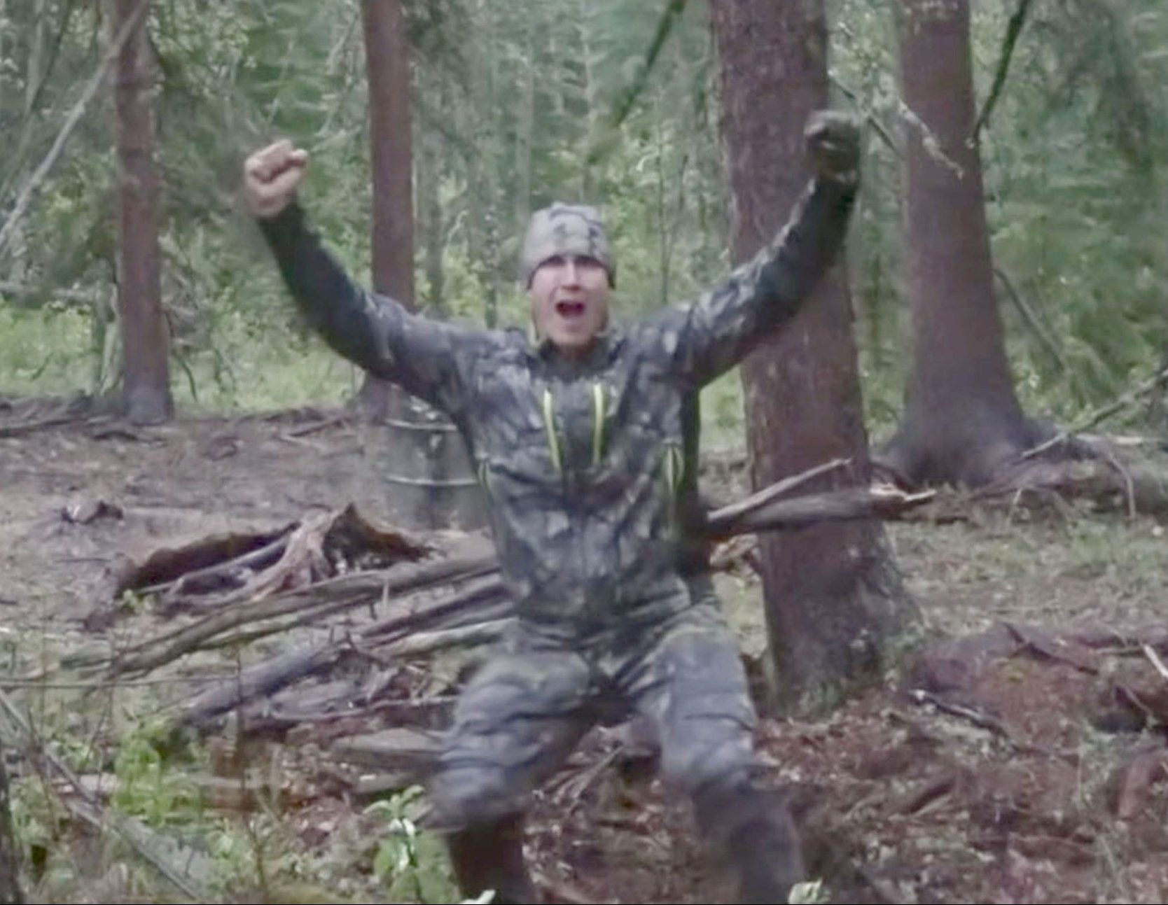 """Grab taken from youtube - This is the barbaric moment a giant black bear is speared by a US hunter and left to die an excruciating death over a day.nThe horrific murder, labelled """"disgusting"""" by fellow big game killers, was carried out by bodybuilder Josh Bowmar who sickeningly fitted his seven foot home made weapon with a Go Pro camera to capture the beast¿s pain.nIt films the moment the bear¿s flesh is torn apart as the impaled spear hits tree ripping the boar¿s intestines out.nyoutube link - https://www.youtube.com/watch? Provider: YouTube"""