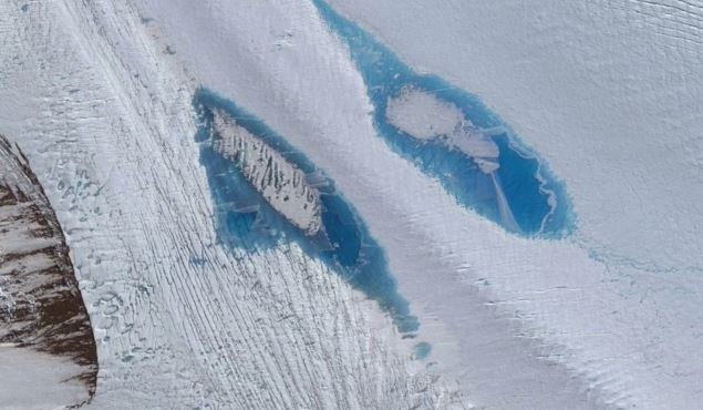 Lots of blue lakes are appearing in Antarctica and it's bad news