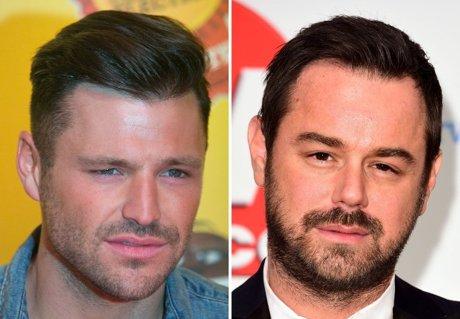File photos of former star of The Only Way Is Essex Mark Wright (left) and Danny Dyer, as Dyer's fiancee has hit out at Mark Wright after the EastEnders actor was involved in an altercation with the reality TV star's friends at V Festival in Chelmsford, Essex. PRESS ASSOCIATION Photo. Issue date: Monday August 22, 2016. Her comments come after Dyer, 39, was pictured sporting what looked like a black eye at V Festival in Chelmsford, Essex. Joanne Mas alleged that Wright, 29, egged on his friends at the weekend event and that the fight took place in front of Dyer's 20-year-old daughter Dani. But a source close to Wright said that he was not present during the incident between Dyer and Wright's friends. See PA story SHOWBIZ Dyer. Photo credit should read: PA/PA Wire