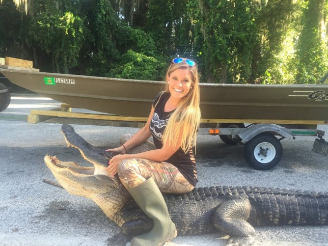Kayla wrestling an alligator (Collect/PA Real Life)