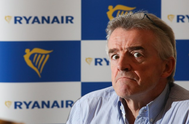 Michael O'Leary, chief executive officer of Ryanair Holdings Plc, pauses during a news conference in London, U.K., on Wednesday, Aug. 31, 2016. Ryanair Holdings Plc warned it won't be able to cut spending fast enough if a drop in ticket prices accelerates this winter, reflecting the strain facing European airlines as terrorist attacks and volatility stemming from Brexit spook travelers. Photographer: Chris Ratcliffe/Bloomberg via Getty Images