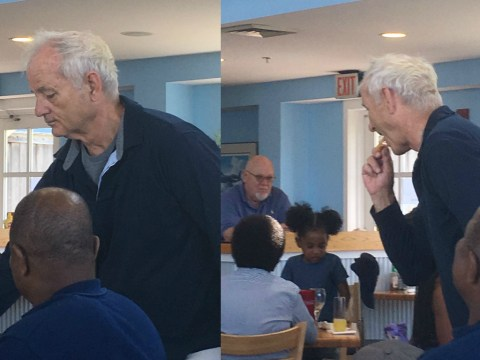 Someone caught Bill Murray stealing some chips and it's brilliant