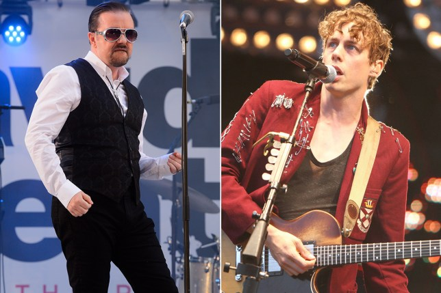 Andy Burrows has compared Johnny Borrell to David Brent