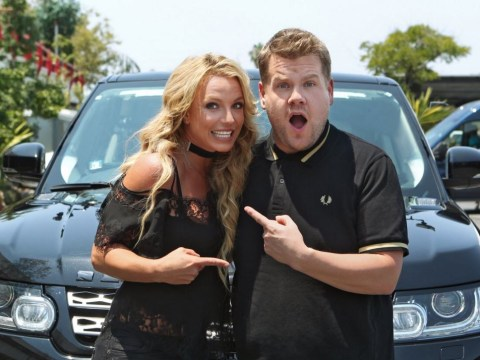 Britney Spears has filmed her Carpool Karaoke skit with James Corden – and he's now after Beyonce