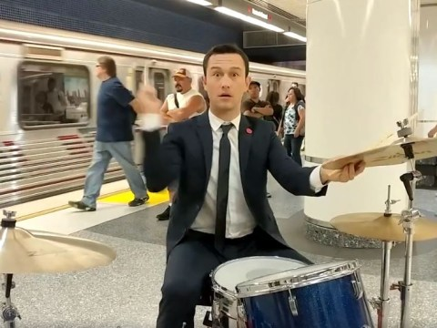 WATCH: Joseph Gordon-Levitt busks in the subway and everyone ignores him