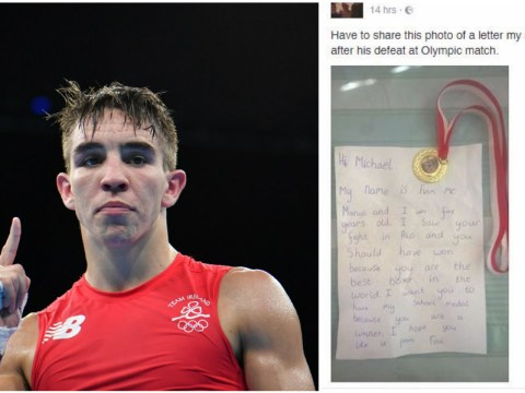 Five-year-old sends his school medal to Michael Conlan after Olympic heartbreak