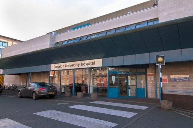 D32FYY Croydon University (Mayday) Hospital NHS Trust in Croydon Greater London United Kingdom Credit: Alamy