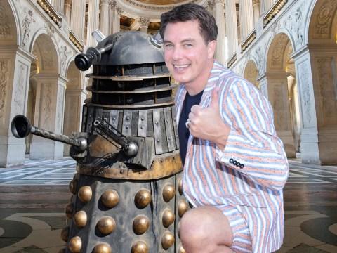 John Barrowman owns a Dalek he can ride around his house