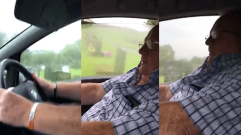 Scottish OAP takes first ever driving lesson, swears a lot