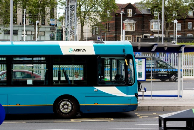 ERMXWT Arriva bus at Luton Station Interchange, Bedfordshire, England, UK Picture: Alamy