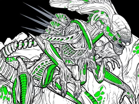 We want to shake the hand of whoever came up with the idea for this Alien colouring book