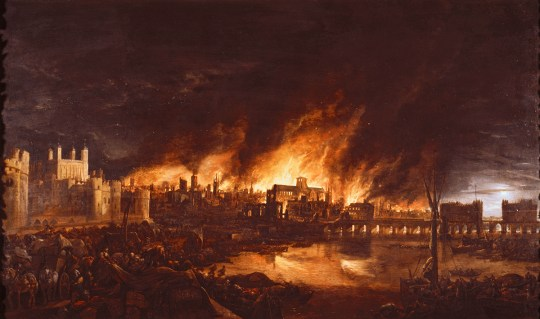 Great fire of London pictures