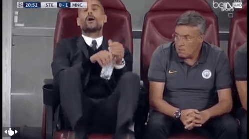 Guardiola reaction
