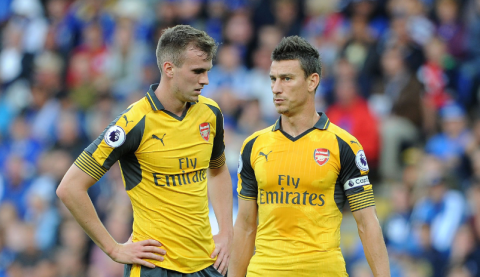 Laurent Koscielny hails Arsenal defensive partner Rob Holding, saying it is easy to play alongside him