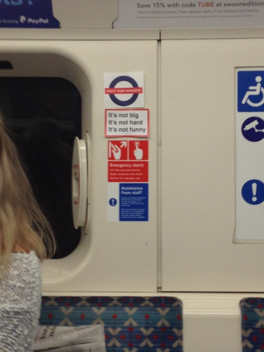 Someone's created new signs for Night Tube etiquette | Metro News