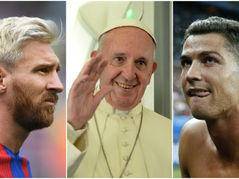 Pope Francis decides that Barcelona's Lionel Messi is the best player ever ahead of Pele and Maradona
